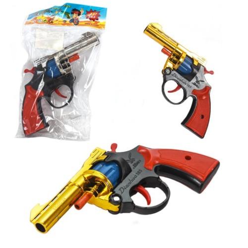 Пистолет под пистоны A2 (216шт) 3 цвета, в пакете 21*12*4см