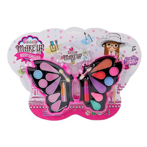Косметика 357I-01 (144шт) бабочка, тени, помада, кисточки, на листе, 30-21,5-2см