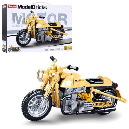 Конструктор SLUBAN M38-B0959 (36шт) мотоцикл, 16,8см, 223дет, в коробке, 28,5-19,5-5,5см
