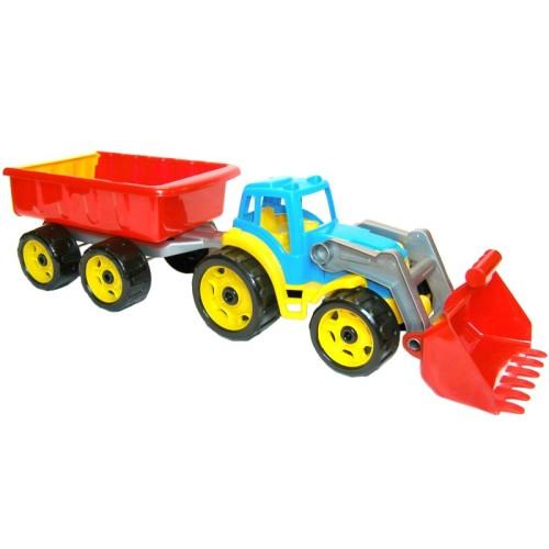 Трактор с прицепом и ковшом 3688