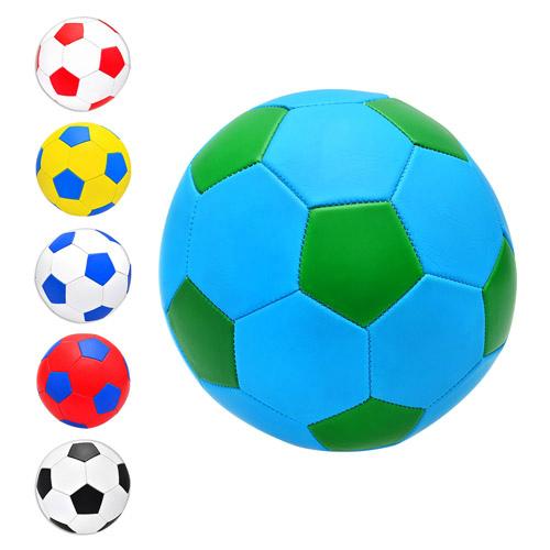 Мяч футбольный EV-3165 размер 5, ПВХ 1,6мм, 2слоя, 32панели, 300-320г, 6 цветов