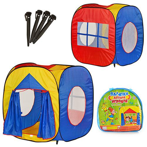 Палатка M 0507 куб, размер 105-100-105 см, вход с занавеской, 3 окна-сетки, в сумке