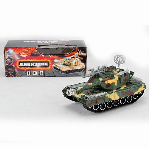 Танк T338-D3205/M1A2-A1 звук, свет, ездит, на бат-ке, 2 цвета, в кор-ке 30-12,5-11см
