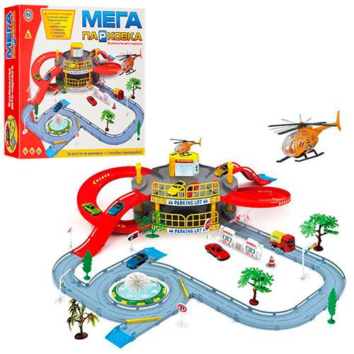 Гараж 922-9 2 этажа,машинка,вертолет, дорож.знаки,дерево2шт, в кор-ке