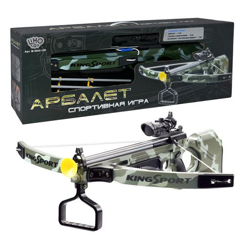 Арбалет игрушечный King Sport, лазерный прицел, M 0004 U/R в кор-ке 71-27-12 см