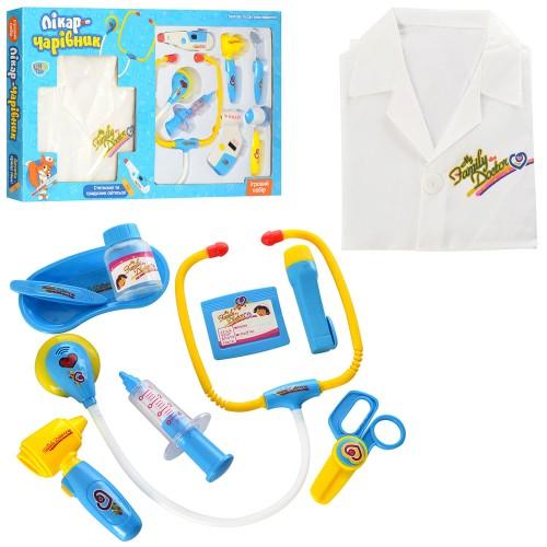 Доктор 9911BC (24) халат,инструменты,звук,свет,2 вида,в коробке 54.5*32.5*4 см