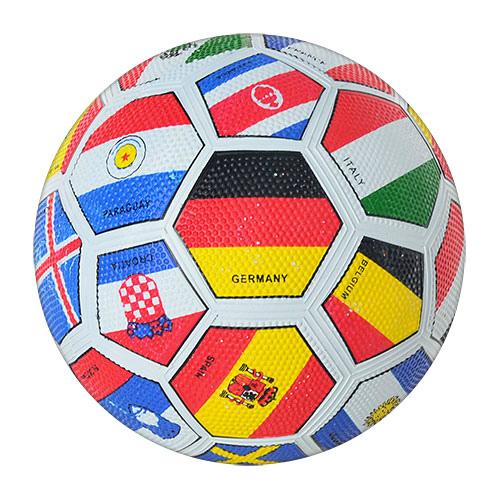 Мяч футбольный VA 0004 размер 5, резина, 350-370 грамм, Grain зернистый, страны