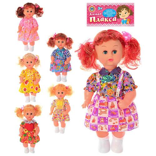 Кукла 161 Плакса 36см, звук (активируется при наклоне куклы),закрывает глазки, 6 видов, в кульке, 44-16-9см