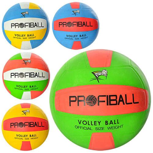 Мяч волейбольный VA 0016 резина, 260-300 грамм, официальный размер, 5 цветов