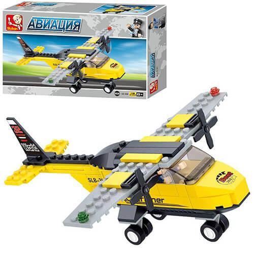 Конструктор SLUBAN M38-B0360 авиация, самолет, фигурка,110 дет, в кор-ке 23,5-14,5-4,5см