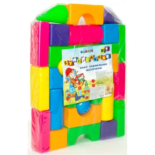 Кубики Строитель №1 Бамсик