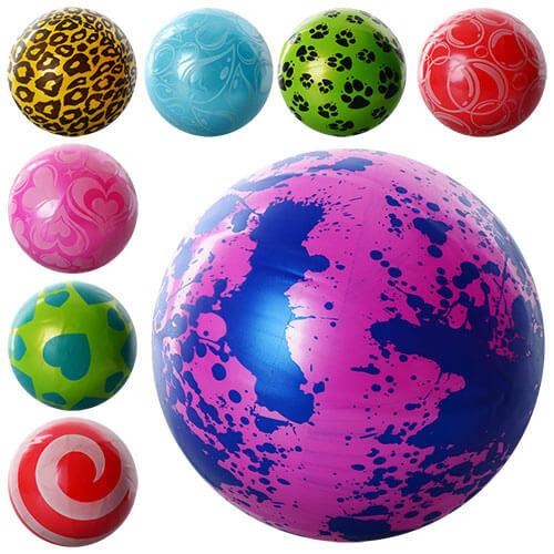 Мяч детский MS 0247 9 дюймов, ПВХ, 75г, 6 видов