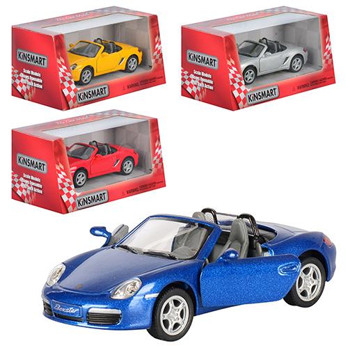 "Машина KT 5302 W ""Porshe Boxster S"" металл, инер-я, 12,5см, 1:34, 4цвета, в кор-ке"