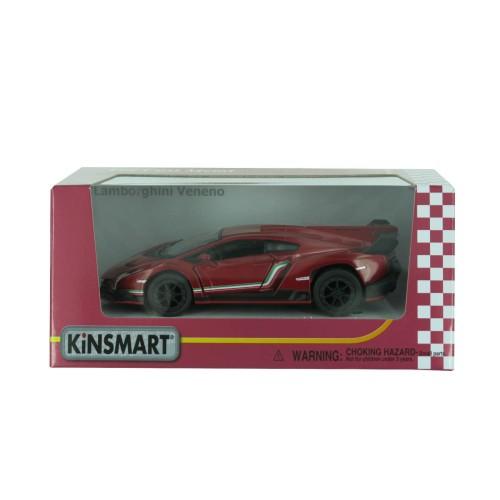 """Машина KT 5367 W """"Lamborghini Veneno"""" металл, инер,13см,1:36,откр двери, рез.колеса,4цвета,в кор-ке"""