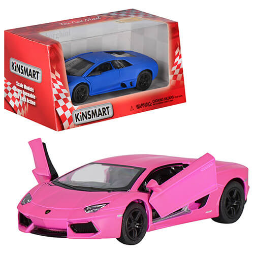 """Машина KT 5370 W """"Matte Lamborghini"""" металл,инер-я,1:36, 12,5см,матовая,откр.дв,рез.кол, 2вида,в кор-ке"""