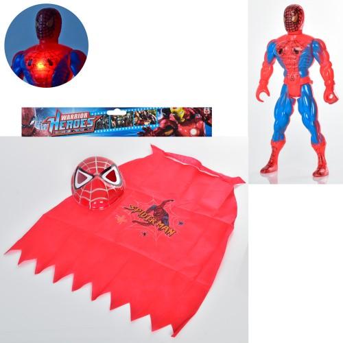 Спайдермен 010А (96) фигурка супергероя 30 см ,свет,маска,плащ, в кульке 31-33-9 см