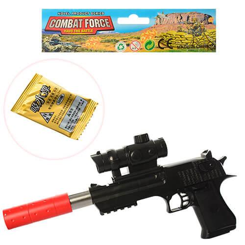 Пистолет H1-2 34см, водяные пульки, в кульке 33-20-3,5см