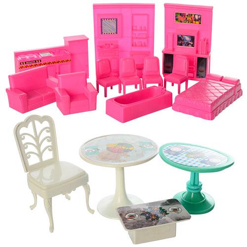 Кукольный домик 6980 83,5-70-25,5 см, 2в1, 2 этажа, 5 комнат, мебель, для куклы, в кор-ке 63-48-9,5 см