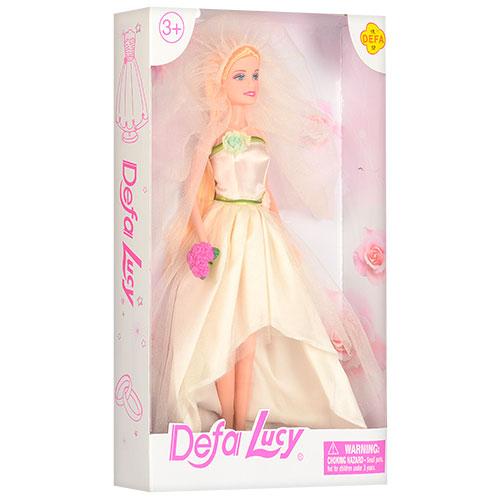 Кукла DEFA 8341, невеста, 29 см, 3 вида, в кор-ке 20,5-32-5 см