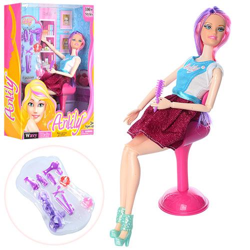 Кукла LH201538 шарнирная, 29см, набор парикмахера, в кор-ке 23-30,5-7см