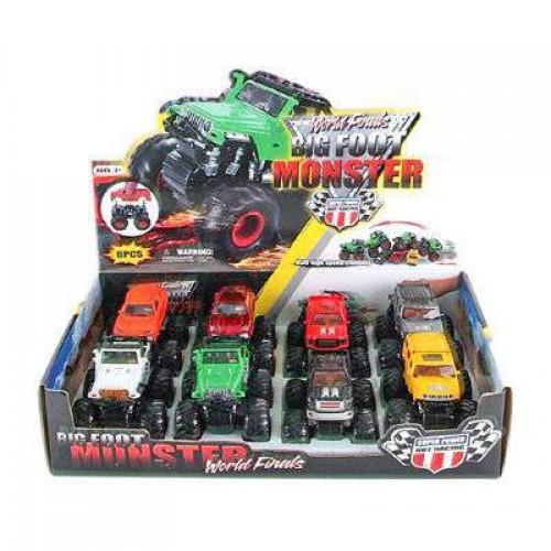 Машинки «Big foot Monster» 8 видов KLX500-8