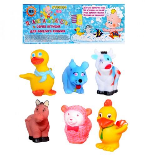 Пищалка 18003-6 (144шт) животные, 6 шт, в кульке, 26см