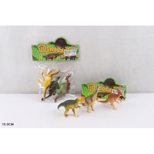 Животные 866-K3 (288шт/2) 2 вида микс, 3шт в пакете 15см