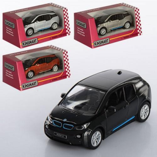"Машина KT 5380 W ""BMW i3"" (96шт) жел,инер-я,12см,1:32,откр.двери,рез.колеса,4цвета,в кор-ке,16-7-8см"