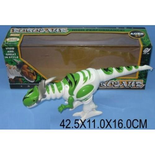 Животные  TT329 Динозавр, батар. звук,ходит в кор. 42*11*16 см